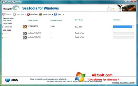 Skærmbillede Seagate SeaTools Windows 7
