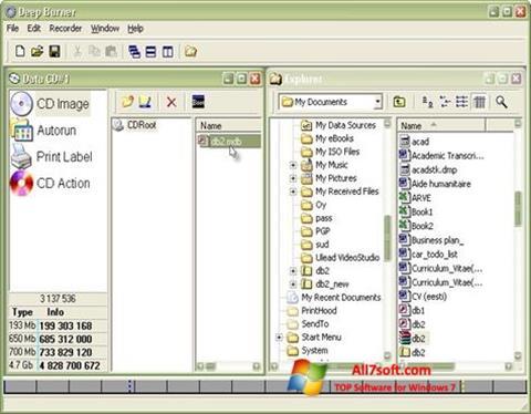 Skærmbillede DeepBurner Windows 7