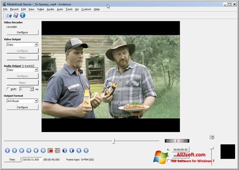 Skærmbillede Avidemux Windows 7
