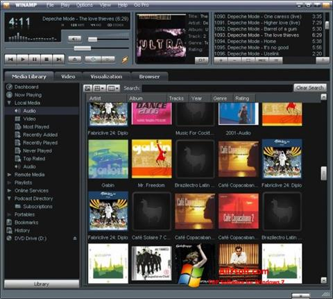 Skærmbillede Winamp Windows 7