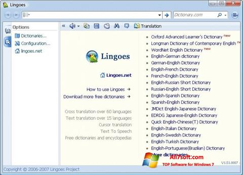 Skærmbillede Lingoes Windows 7