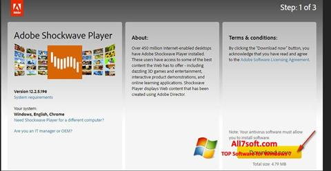 Skærmbillede Adobe Shockwave Player Windows 7