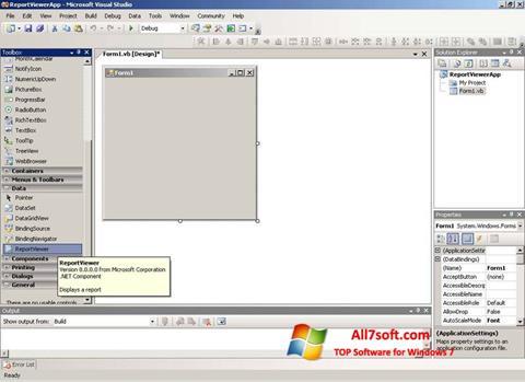 Skærmbillede Microsoft Visual Studio Express Windows 7