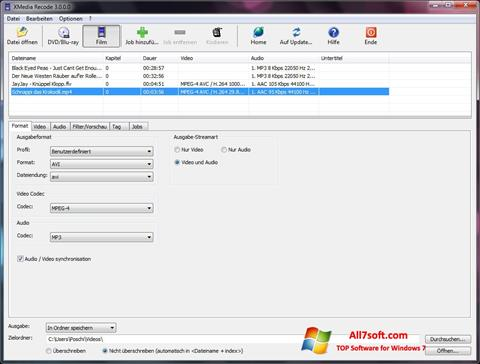Skærmbillede XMedia Recode Windows 7