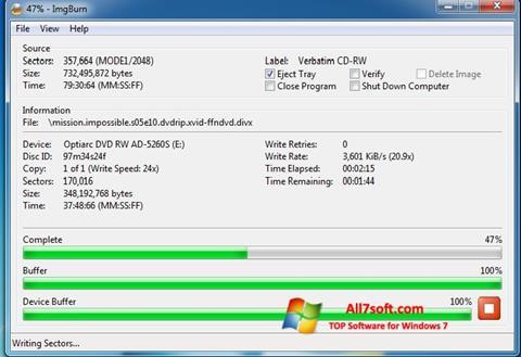 Skærmbillede ImgBurn Windows 7