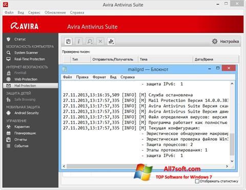 Skærmbillede Avira Windows 7