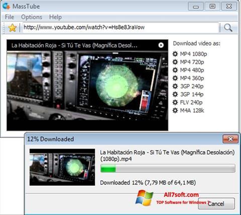Skærmbillede MassTube Windows 7