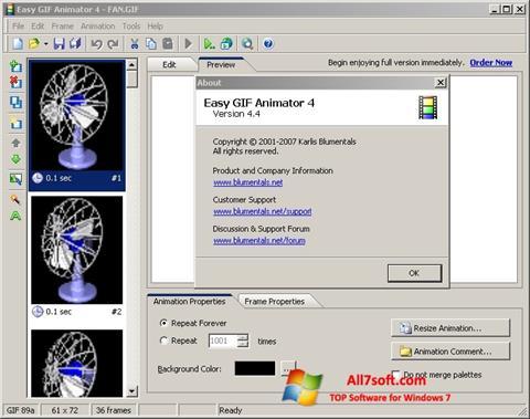 Skærmbillede Easy GIF Animator Windows 7