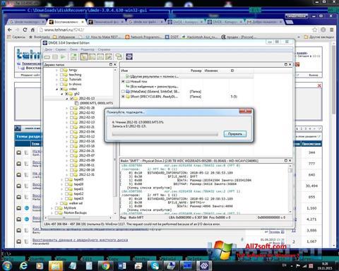 Skærmbillede DMDE Windows 7