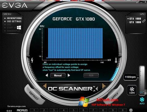 Skærmbillede EVGA Precision Windows 7