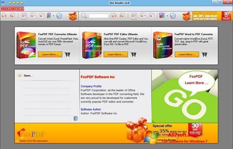Skærmbillede Doc Reader Windows 7
