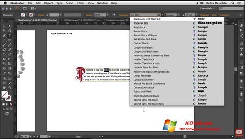 Skærmbillede Adobe Illustrator Windows 7