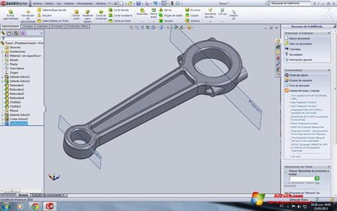 Skærmbillede SolidWorks Windows 7