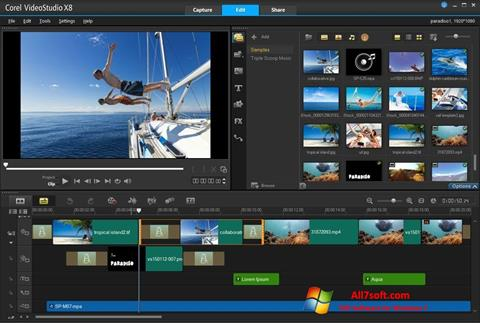 Skærmbillede Corel VideoStudio Windows 7