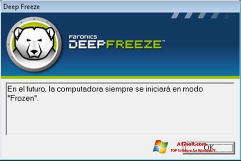 Skærmbillede Deep Freeze Windows 7