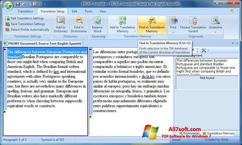 Skærmbillede PROMT Windows 7