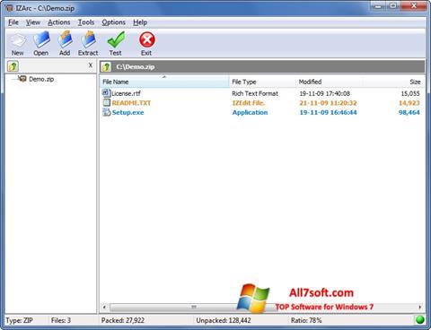 Skærmbillede IZArc Windows 7