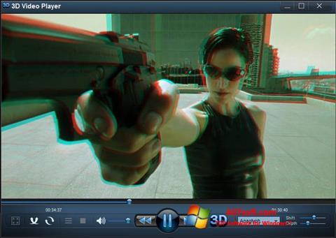 Skærmbillede 3D Video Player Windows 7