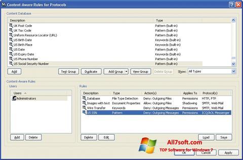 Skærmbillede DeviceLock Windows 7