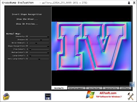 Skærmbillede CrazyBump Windows 7