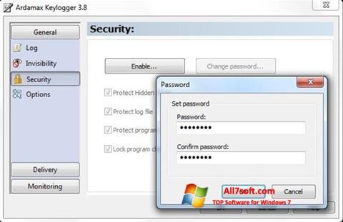 Skærmbillede Ardamax Keylogger Windows 7