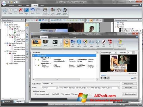 Skærmbillede Free Video Editor Windows 7
