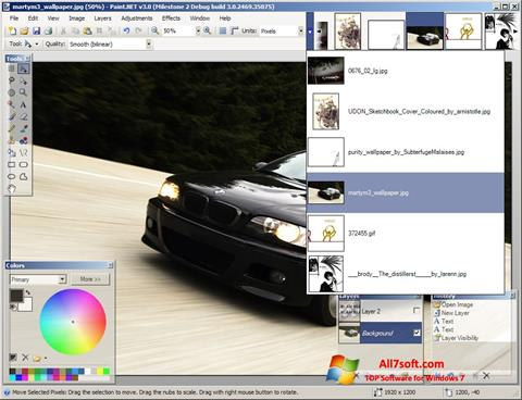 Skærmbillede Paint.NET Windows 7