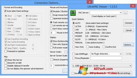 Skærmbillede UltraVNC Windows 7