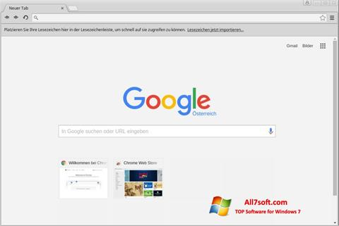 Skærmbillede Google Chrome Windows 7