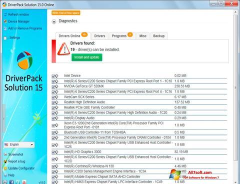 Skærmbillede DriverPack Solution Windows 7