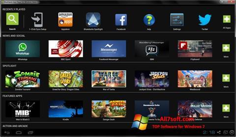 Skærmbillede BlueStacks Windows 7