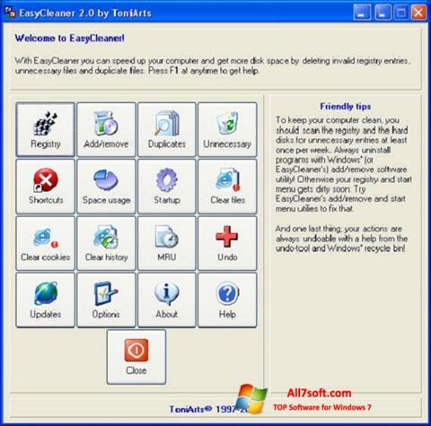 Skærmbillede EasyCleaner Windows 7
