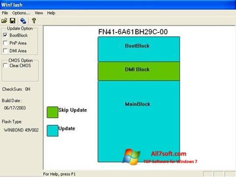 Skærmbillede WinFlash Windows 7