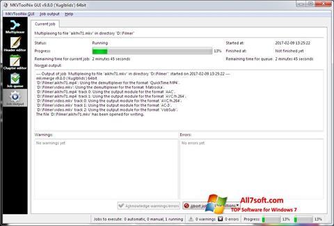 Skærmbillede MKVToolnix Windows 7