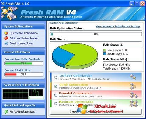 Skærmbillede Fresh RAM Windows 7