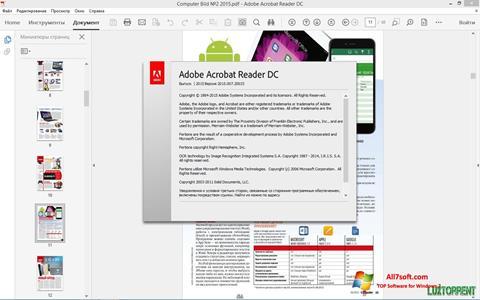 Skærmbillede Adobe Acrobat Reader DC Windows 7