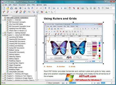 Skærmbillede Foxit PDF Editor Windows 7