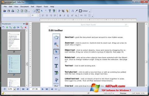 Skærmbillede Infix PDF Editor Windows 7