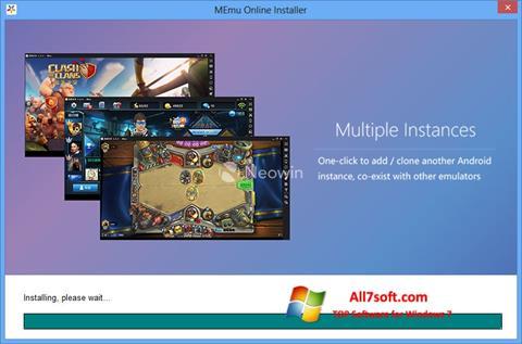 Skærmbillede MEmu Windows 7