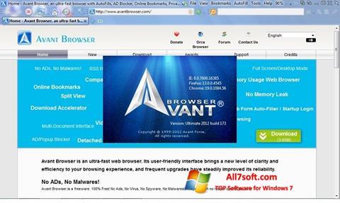 Skærmbillede Avant Browser Windows 7