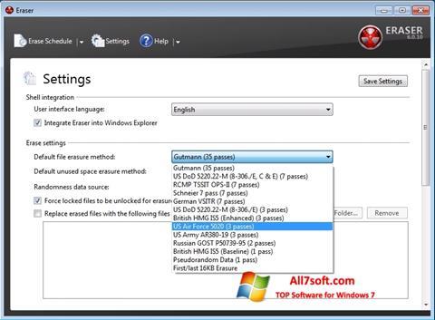 Skærmbillede Fast Folder Eraser Windows 7