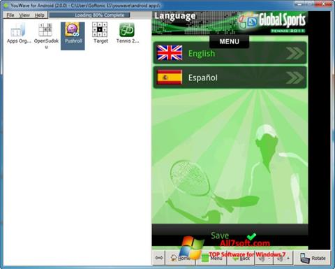 Skærmbillede YouWave Windows 7