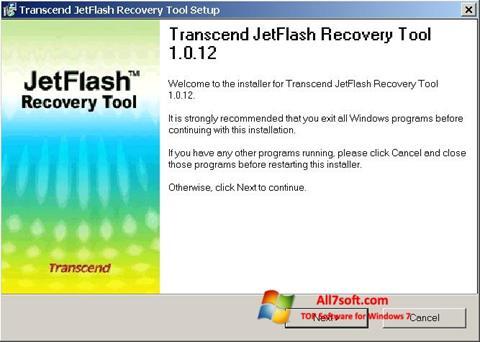 Skærmbillede JetFlash Recovery Tool Windows 7