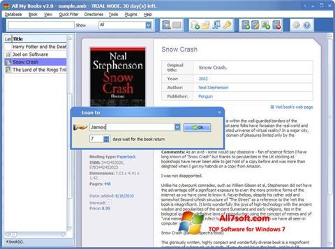 Skærmbillede All My Books Windows 7
