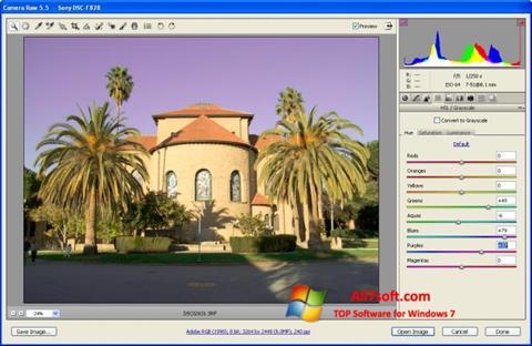 Skærmbillede Adobe Camera Raw Windows 7