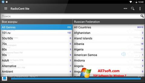 Skærmbillede Radiocent Windows 7