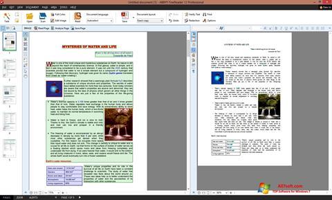 Skærmbillede ABBYY FineReader Windows 7