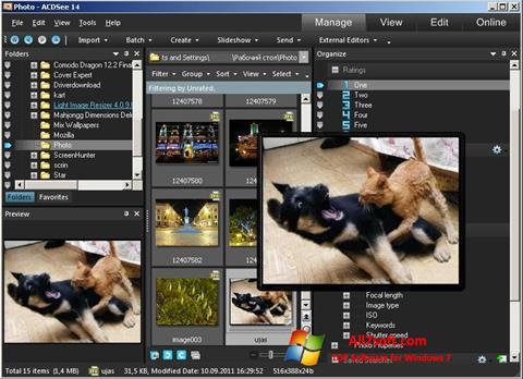 Skærmbillede ACDSee Photo Manager Windows 7