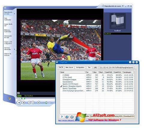 Skærmbillede SopCast Windows 7