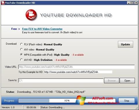 Skærmbillede Youtube Downloader HD Windows 7